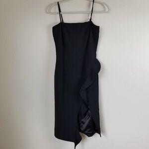 BARDOT - asymmetrical ruffle midi dress size 6/S